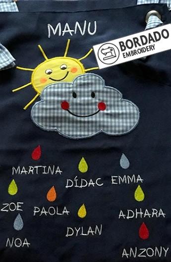 ESTOLA MAESTRA SOL Y NUBE. REGALO MAESTRA